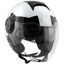 Casco Helmet Moto Jet KAPPA KV37 Zone Negro Blanco Brillante White Black TG XL