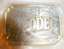 Vintage new brass Raleigh Lights cigarettes rodeo 1981 belt buckle