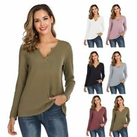Women Ladies Oversized Baggy Loose Fit Turn up Batwing Sleeve V Neck Top T-Shirt