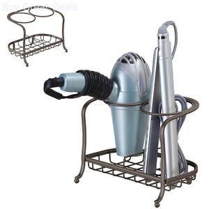 Instrument Holder Blow Hair Dryer Curling Iron Storage Bathroom Organizer Stand