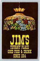 Jim's Tiffany Place Dining, Lansing Michigan Vintage Postcard