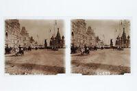Mosca Russie Москва Россия Placca Lente Stereo Positivo 6x13cm Vintage