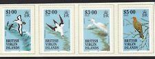 BVI SG575/578 Birds - High value Set of 4 - Mint lightly hinged on card (N1)