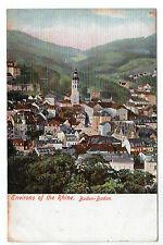 Baden Baden - Photo Postcard c190h / Rhine