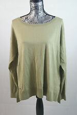 Lacoste Cotton Silk Green Summer Sweater Sz 42/10 AF1064 BNWT 100% Authentic