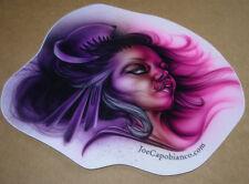 """JOE CAPOBIANCO 5 X 4"""" GEISHA GAL STICKER Art from tattoo poster print"""