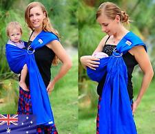 WALKABOUT ring sling Baby Carrier Pouch Newborn Toddler Cotton Blue RRP $59.95