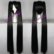 Black Rock Shooter K-ON! Nakano Azusa cosplay wig one short with two ponytails