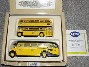 Corgi Classics Set - the AEC Bus Set - AEC Bus And AEC Regal -96990 From 1991