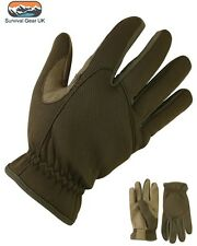 COYOTE & TAN TACTICAL ARMY STYLE NEOPRENE & SUEDE DELTA FAST GLOVES AIRSOFT