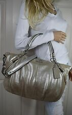 Coach Large 15955 Madison Sophia Metallic Leather Convertible Satchel Hand Bag