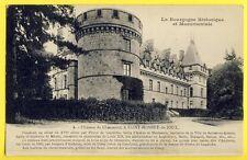 cpa de 1927 SAINT BONNET de JOUX (Saône et Loire) CHÂTEAU de CHAUMONT la GUICHE