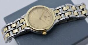 """Vintage Omega DeVille Symbol Wristwatch 18k Gold, Stainless Steel 6101/433 5.75"""""""
