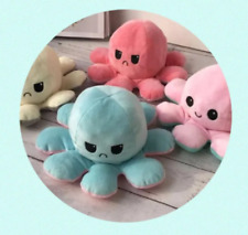 Cute Reversible Octopus Plush double sided flip soft toy kids Uk Seller New