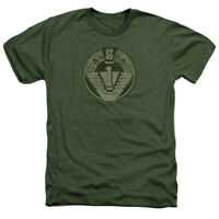 Stargate SG-1 Show SG1 DISTRESSED Licensed Adult Heather T-Shirt All Sizes