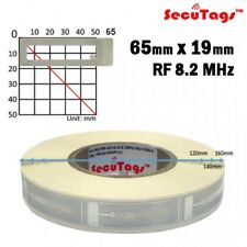 Anti theft Eas 8.2Mhz Checkpoint Clear Square Soft Labels 19x65Mm, 20000pcs /Cs