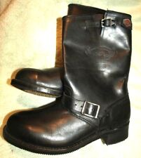 NEW  **HARLEY DAVIDSON**  Dual Buckle,Black Leather,Motorcycle Riding, Boot, 11M