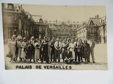 Vintage RPPC Postcard - Group of Tourists at Palace of Versailles France unused