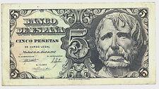 BILLETE DE 5 PESETAS DE 1947 (EBC) SÉNECA (SIN SERIE)
