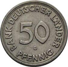 Savoca Coins  Deutschland 50 Pfennig 1950 G Bank Deutscher Länder =RRC64310