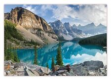 XXL Poster 100 x 70cm Moraine Lake in Kanada Bergsee in den Rocky Mountains
