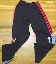 ADIDAS NBA AUTHENTIC TORONTO RAPTORS BLACK ON COURT PANTS BUTTON DOWN SIZE XL+2