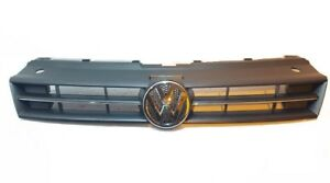 VW POLO Front Main Centre Grille Black With Chrome  and badge  2009 To  2014