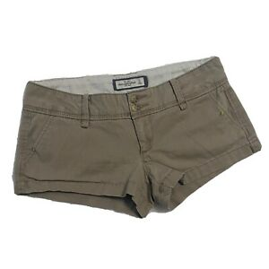 """Abercrombie & Fitch Khaki Shorts Women's Size 0 (30"""" Waist) New w/out Tags NWOT"""