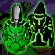 Ben 10 Upgrade Hoodie Casual Sweatshirt Cosplay Jacket Full-Zip Hooded Coat
