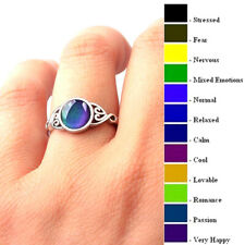 Magic Stone Mood Ring Adjustable Women Temperature Change Color Oval Jewelry Cha