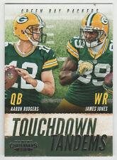 "Aaron Rodgers / James Jones PACKERS 2013 Contenders ""Touchdown Tandems"" #1"