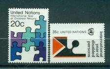 Nations Unies New Ykrk 1981 - Michel n. 367/68  - Année Internationale des perso