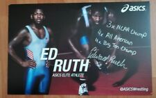 Penn State Wrestling Ed Ruth Autographed Poster 11x14 Bellator Signed PSU MMA