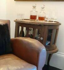 More details for vintage glazed drinks cabinet oval mahogany cocktail cabinet