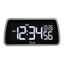 30451 Equity by La Crosse Color-Changing LCD Digital Alarm Clock - Refurbished
