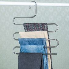 Clothes Pants Trousers Hanger Storage Space Saver Neat Clothing Hanging Layers