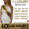 40TH BIRTHDAY GIRL PARTY SASH NIGHT OUT ACCESSORY FUN GIRLS SASHES FORTY 40 TH i