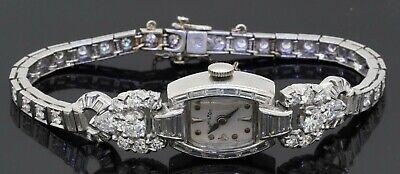 Hamilton Platinum elegant 5.80CTW VS1/F diamond manual winding ladies watch
