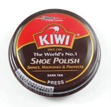 Kiwi Shoe Polish Wax Shine 14g Dark Tan FREE SHIPPING