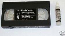 K1 - NOUVEAU S/VHS / CASSETTES VIDÉO HEAD CLEANER + FLUIDE VHS/PAL/SECAM