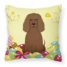 """Caroline's Treasures Easter Eggs Fabric Decorative Pillow, 14 x 14"""", Multic."