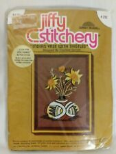 SEALED 1976 Crewel Embroidery Kit Southwest Style Pottery & Flowers JIFFY # 292