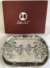 "Arthur Court Fleur De Lis Catch All Small Silver Tray Aluminum 9.5"" Retired Rare"