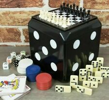 6-In-1 Game Set - Dominoes, Cards, Draughts, Chess, Poker Dice & Backgammon