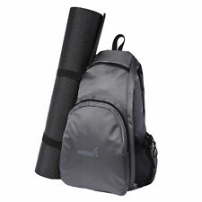 Yoga Mat Backpack Sport Bag Exercise Fitness Travel Gym Hiking Biking - Gray