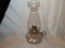 Vintage, Glass, Clear, Kerosene/Lamp Oil, Brass Burner, Finger Lamp