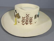 Kansas City American Royal Stetson Hat Covered w/ American Royal Badges 1957-70s