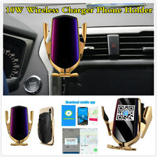 10W Smart Sensor Qi Wireless Car Charger Phone Holder w/GPS Location Positioning