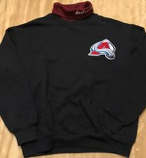 Colorado Avalanche VINTAGE Majestic NHL Turtleneck Sweatshirt Made in USA