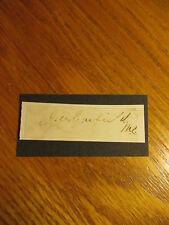 SIGNATURE J. A. GARFIELD M.C.(MEMBER OF CONGRESS) BORN 1831- DIED 1881